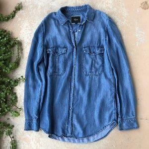 Rails Chambray Denim Long Sleeve Button Up Shirt